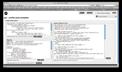 profile auto-complete demo based on RDForms fusion algorithm
