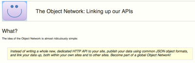 The Object Network: Linking up our APIs